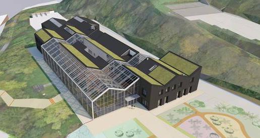Image 3D du conservatoire botanique national à Brest dont ACCORT-Paille supervise l'AMO pour l'isolation paille